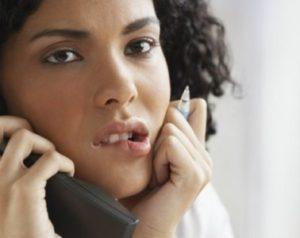 deciding on phone